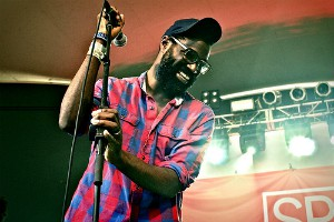 ON SET: Tunde Adebimpe